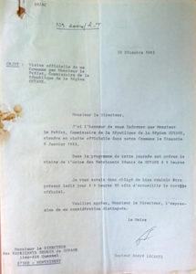 Lettre du 30 décembre 1982 du maire au directeur des Fabricants réunis de Guyane © Archives communales de Montsinéry-Tonnégrande.