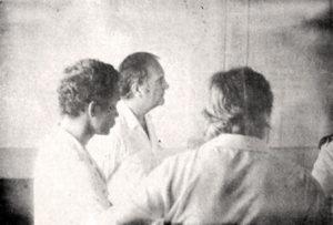 Le maire André Lecante aux côtés du préfet. © Archives départementales de Guyane.