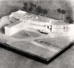 Maquette du projet de VVF © Archives départementales de Guyane.